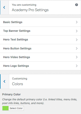 Genesis framework academy pro settings