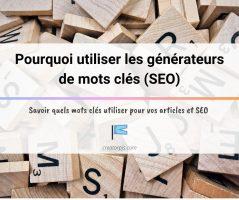 Article Générateur de mots clés pour référencer votre site