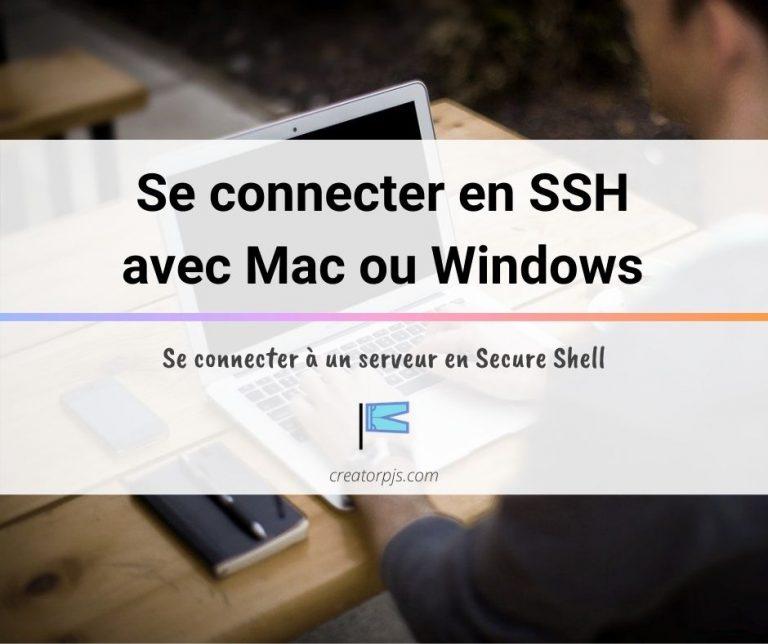 Se connecter en SSH