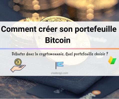 Comment creer un portefeuille bitcoin