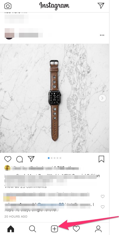 instagram smartphone from pc
