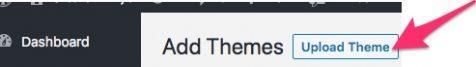 how upload wordpress theme